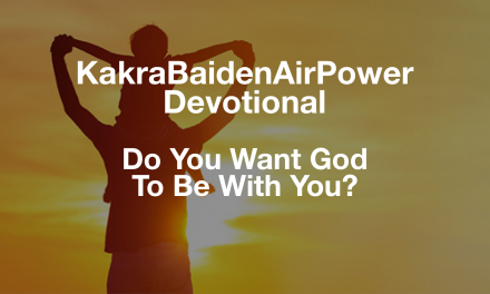 Do You Want God To Be With You?