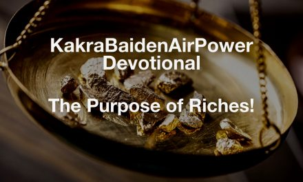 The Purpose of Riches!