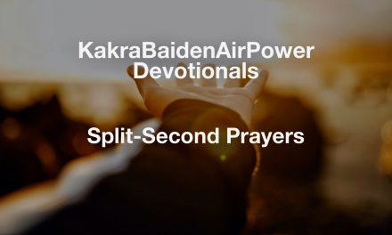 Split-Second Prayers