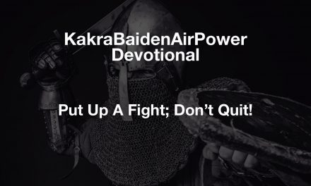 Put Up A Fight; Don't Quit!