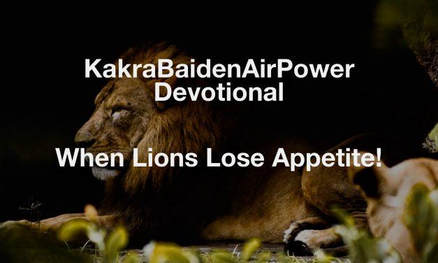 When Lions Lose Appetite!