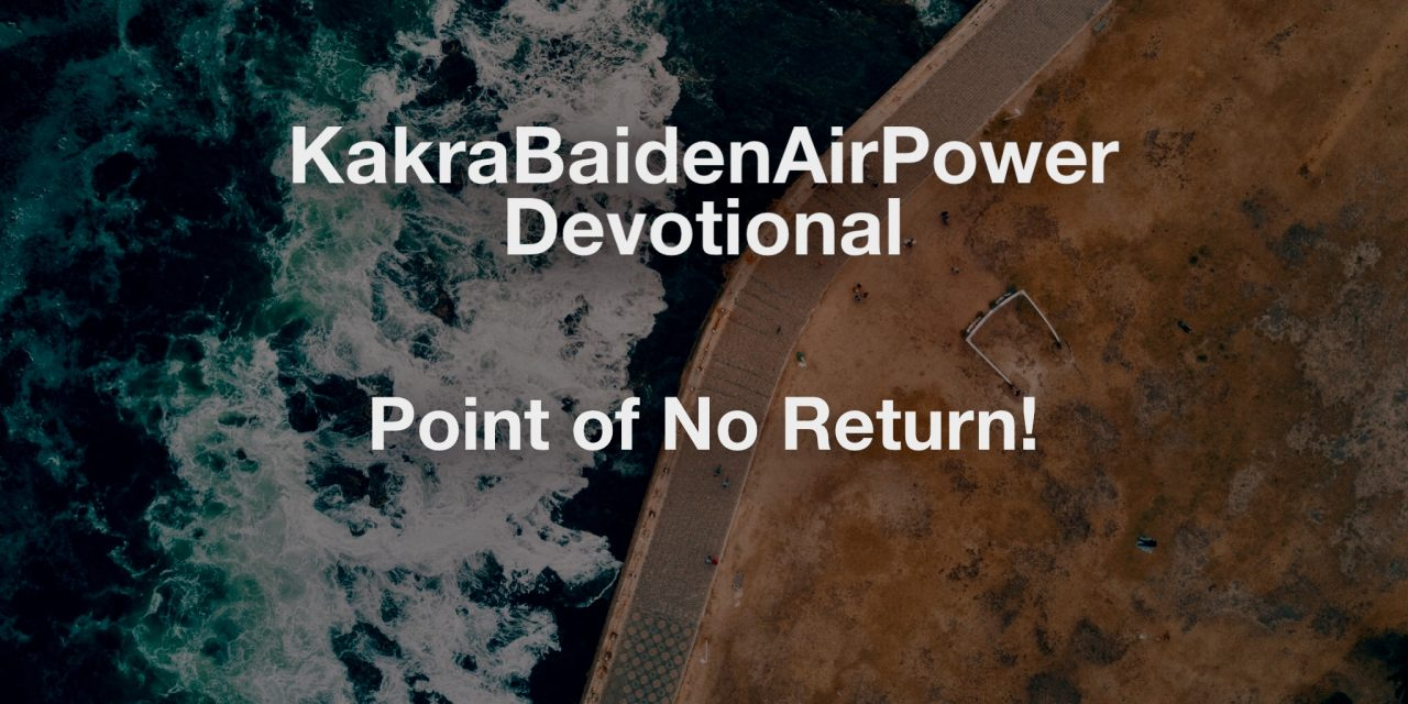 Point of No Return!