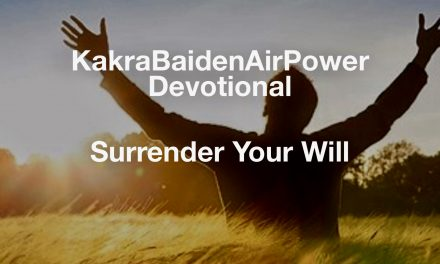 Surrender Your Will